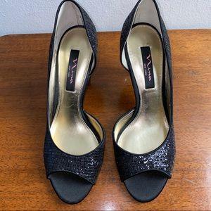 Nina New York Open Toed Heels, Size 9